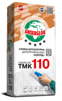 ANSERGLOB ТМК 110 смесь штукатурная декоративная  «короед» белая, с грануляцией зерна 2,5 мм